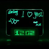 Zytree(TM)Digital Message Board Clock Alarm Temperature Calendar Timer Green Light