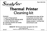 Thermal Printer Cleaning Kit w/ Wipes, Cards, Swabs and Gloves By Swab-its®