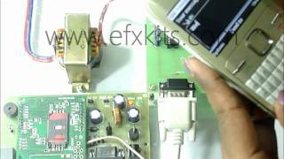 Wireless Electronic Notice Board using a GSM modem
