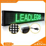 Leadleds Led Sign Board - 30 X 6.3 Inches Usb Programmable Scrolling Message Dsiplay Board for Indoor Pizza Concession Trailer Fast Food Truck Restaurant Bar (Green Message)