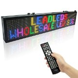 Leadleds 30 X 6in Led Sign for Business - Vivid 7 Colors Message Board, Easy Program By Remoter, Great for Restaurant, Beer, Bar, Home, Office, Store, Window, Walls (Multi-language Supported)