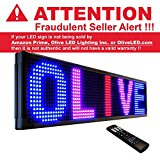 OLIVE LED Message Board(TM) P26 Tricolor RBP 36